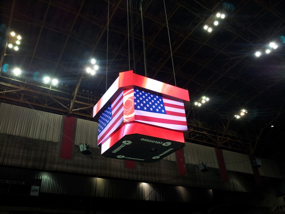Cow Palace Scoreboards Video Cubes Led Video Displays