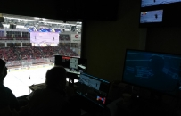 Colosseo Center-Hung videoboard Traktor Ice Arena - Ледо́вая аре́на «Тра́ктор»